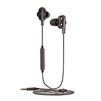 Lanston D4C-T Type-c earphones in-ear cable tuning with wheat sound insulation noise reduction subwoofer quad-core double moving ring type c interface mobile phone karaoke chicken game headset black