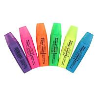 Bút dạ quang highlight M&G-màu xanh dương/xanh lá/vàng chanh/hồng/cam/tím-AHM21572B1-MG2150E-1 cây