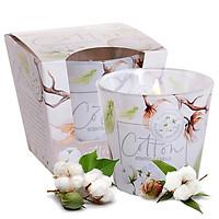 Ly nến thơm tinh dầu Bartek Cotton 115g QT5672 - hương hoa bông Spa