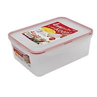 Hộp nhựa trong đựng thực phẩm chữ nhật 2,3 lít - Hàng nội địa Nhật Bản