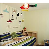 Tranh dán tường 3D hình đèn xinh xắn - TDT11