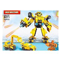 Bộ Lắp Ráp Transformer Bumblebee Warrior Lele Brother (8271) (142 Chi Tiết)