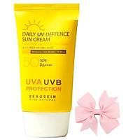 Kem chống nắng tác dụng 8h không gây nhờn dính Daily UV Deffrence Sun Cream Hàn quốc (50ml) và nơ