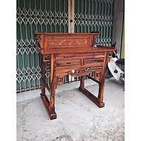 Bàn thờ 2 tầng gỗ muồng  1m27  mẫu triện sen