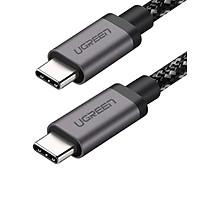 Cáp USB type C ra USB-C v3.1 Gen 1 sạc nhanh chuẩn PD 3A màu đen 1M 5Gbps  Ugreen 161OL50477US Hàng chính hãng