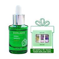 Tinh Chất Thảo Dược Derladie Herbal Ampoule Blemish 30ml + Tặng Bộ 3 Sample Tẩy Trang, Toner Derladie 30ml