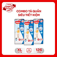 Combo 3 Gói Tã Quần Huggies Dry Gói Đại XL42 (42 Miếng)