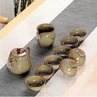 Bộ bình trà cô Tấm chất liệu đất cao lanh và men tráng sứ TC00085