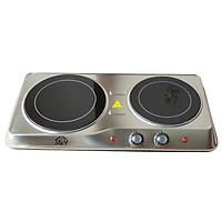 Bếp hồng ngoại đôi mặt kính Ceramic Joyful Life JYEC-12801SS - 2000W - Hàng chính hãng