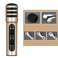 Micro Thu Âm Hát Karaoke Online Livestrem C7 Dùng Được Trên Cả Điện Thoại Và Máy Tính, Với Khả Năng Lọc Âm Tốt Với 2 Lớp Kim Loại