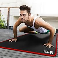 Thảm tập Gym Cao Cấp Chống trơn trượt dày 10mm (NEW) - Tặng kèm túi đựng và dây buộc