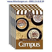 Lốc 5 quyển vở kẻ ngang 120 trang B5 Coffee Shop Campus NB-BCOF120 màu nâu