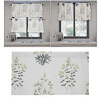 Floral Botanical Lined Window Curtain Valance Rod Pocket Header