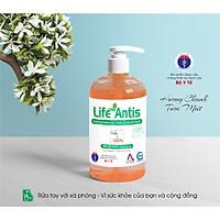 Nước rửa tay diệt khuẩn, khử mùi LIFE ANTIS hương chanh chai  500ml