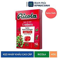 [Chỉ Giao HCM] Kẹo Thảo Mộc Trái Cây Cranberry Hiệu Ricola