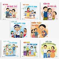 Combo 8 cuốn Ehon Kỹ năng sống: Bon và Gia đình, Bạn bè