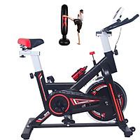 Xe đạp tập thể dục thể thao tại nhà đa năng thế hệ mới giúp tăng cường thể lực, giảm mỡ tăng cơ, đập tan stress tặng kèm bao trụ đấm bốc + đồng hồ + bình nước