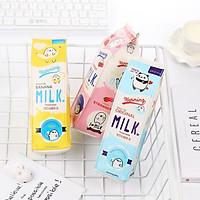 Túi bút hình hộp sữa màu sắc ngẫu nhiên