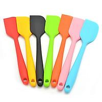 Cây vét bột spatula silicon đúc 28cm (phới silicon)