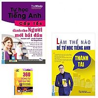 Combo Tự Học tiếng Anh Cấp Tốc Cho Người Mới Bắt Đầu+Tự Học Tiếng Anh Thành Tài tặng kèm 360 Động Từ Bất Quy Tắc  12 Thì Cơ Bản trong Tiếng Anh
