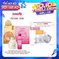 Combo hộp nước uống Collagen InnerB Glowshot (50mlx6) & INNERB AQUA RICH DOUBLEUP (giúp giữ ẩm da sáng mịn từ Axit Hyaluronic) lọ 56 viên