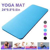 60x25x1.5cm Yoga Knee Pad Cushion Anti-Slip 15mm Thick Workout Exercise Travel Mat Workout Fitness Mat NBR