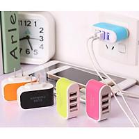 Củ Sạc 3 Cổng USB 3.1A Nhiều Màu