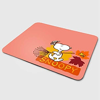 Miếng lót chuột mẫu Cún Snoopy Nền Hồng (20x24 cm) - Hàng Chính Hãng