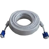 Cable tín hiệu VGA trắng 10 M (2 cục chống nhiễu)