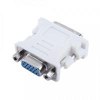 Đầu Nối chuyển tín hiệu DVI to VGA 24+5 (Trắng) - Hàng chính hãng