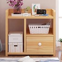 Tủ đầu giường 3 ngăn bằng gỗ tiện dụng, kệ để đồ đa năng chịu nước chống mọt