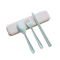 Bộ thìa , dĩa, đũa 3 chi tiết bằng lúa mạch
