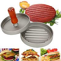 Khuân Ép Thịt  Làm Bánh Hamburger Tay Cầm Cán Gỗ