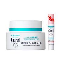 Kem Dưỡng Da Cấp Ẩm Chuyên Sâu Curel Intensive Moisture Care Intensive Moisture Cream 40g Tặng son dưỡng môi cấp ẩm hồng nhẹ 4.2g