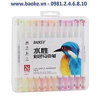Bút lông hai đâu 24 màu Marker Baoke - D289 - 24