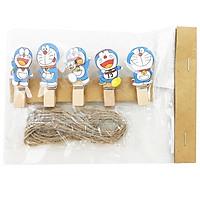 Kẹp Gỗ Hình Nhỏ 9 - Mẫu 70 - Hình Doraemon