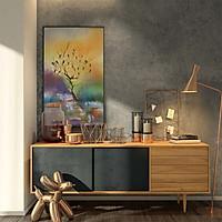 Tranh canvas phong cách màu nước (watercolor) - Về tổ - WT013