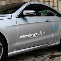 Bộ 2 tem dán cửa xe ô tô phong cách Sport