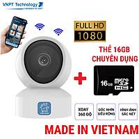 Camera IP Wifi VNPT Technology ONE HOME  Home Vision HVIP01 xoay 360 quan sát rõ ngày và đêm hàng chính hãng