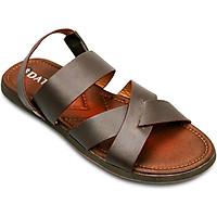 Giày Sandals Nam Da Bò Cao Cấp DATINNOS (Nâu) - NAN2703