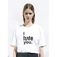 Áo T-Shirt Unisex Dotilo I Hate / Love You- HT89