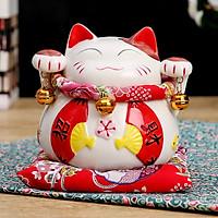Mèo Thần Tài Kim Đào - Quạt Chiêu Tài
