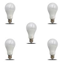 Bộ 5 bóng đèn LED Bulb kín nước 18W siêu sáng