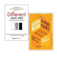 Combo Khác biệt tạo thành công : Different - Khác biệt thoát khỏi bầy đàn cạnh tranh + Gian nan chồng chất gian nan - Tặng kèm bookmark thiết kế