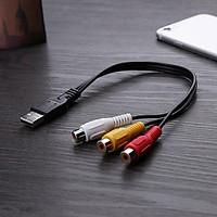 Cáp Chuyển Đổi USB Sang 3 RCA Dùng Cho TV HDTV Dài 0,3m AZONE