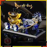 Ngựa thồ vàng -  HT SYS -Linh vật mang lại tài lộc, công danh thăng tiến - Vật phẩm phong thủy may mắn