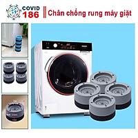 Combo 4 đế cao su lót chân máy giặt chống rung chống ồn hiệu quả, đế chống rung máy giặt làm bằng silicon