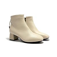 Boots nữ, 3 cm, mũi vuông nơ đan Boots03