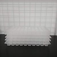 Bộ 5 khay nhựa làm đá, thạch 60 ô