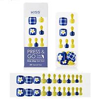 Bộ 24 Móng Chân Gel Tự Dán Press & Go Kiss New York Nail Box - Cutie Bbo-jjak (KPT05K)